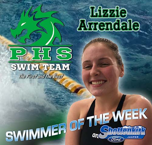 Lizzie Arrendale Named PHS Girls Swimmer of the Week