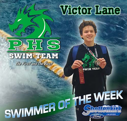 Victor Lane Named PHS Boys Swimmer of the Week