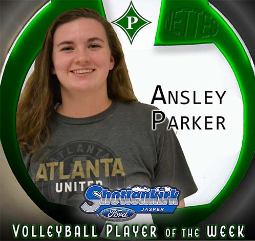 Ansley Parker Named PHS Nettes Volleyball Player of the Week