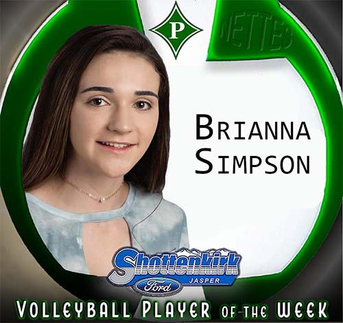 Brianna Simpson Named PHS Nettes Volleyball Player of the Week
