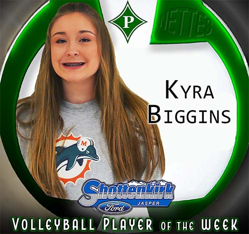 Kyra Biggins Named PHS Nettes Volleyball Player of the Week