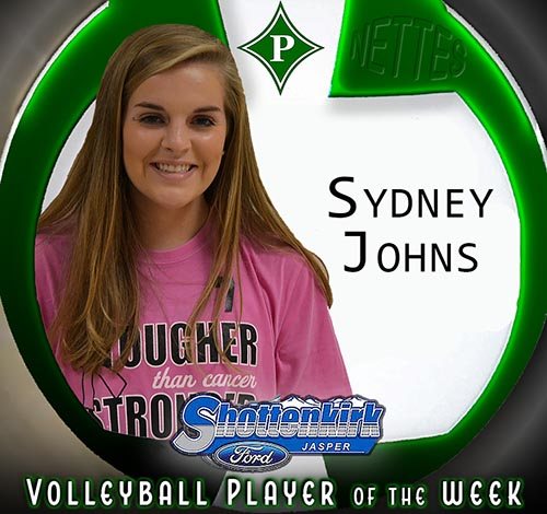 Sydney Johns Named PHS Nettes Volleyball Player of the Week