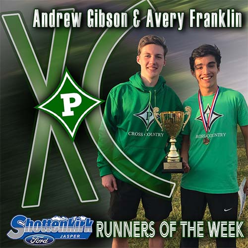 Andrew Gibson and Avery Franklin Named PHS XC Runner of the Week