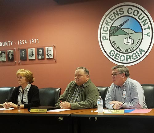 Pickens Board of Commissioners Work Session January 2019