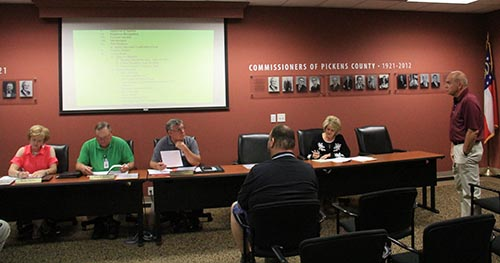 Pickens County Board of Commissioners August 2018