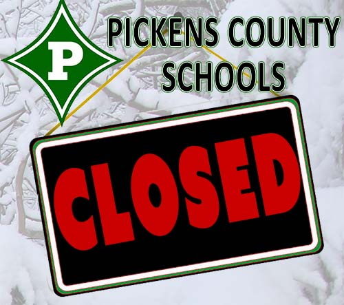 Pickens County Schools CLOSED Tuesday, January 29th