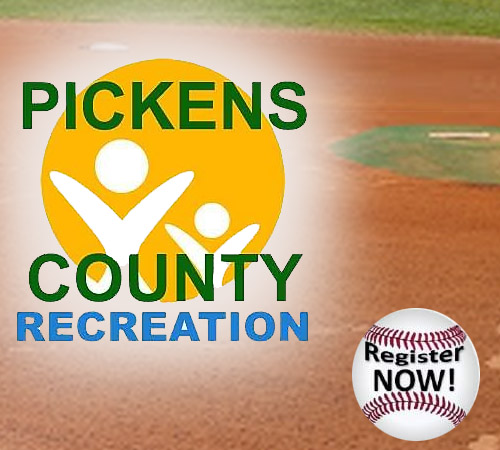 Pickens Recreation Baseball, Softball and T-Ball Registration