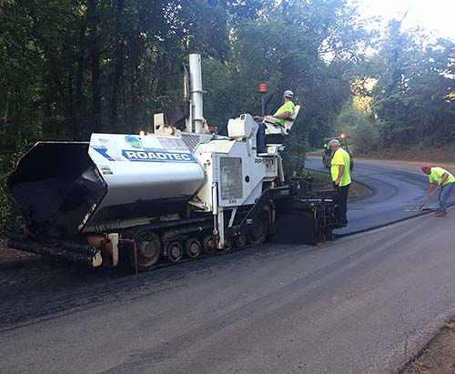Pickens County Public Works resurfacing Pea Ridge Road