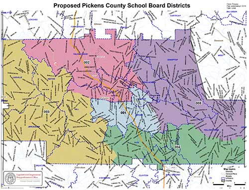 Pickens County School Calendar.Updated Pickens County School Board Map