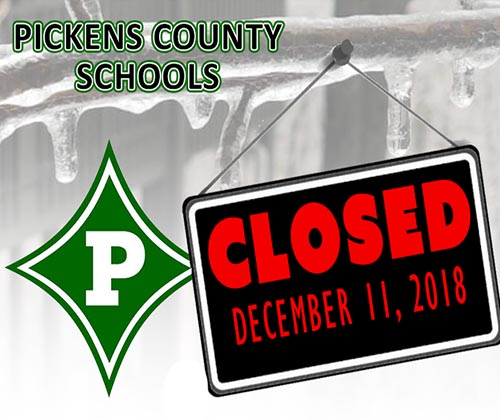 Pickens County Schools Closed Tuesday, December 11th