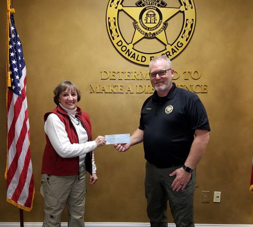 Pickens County Sportsman Club Donation to 'Shop with the Sheriff'