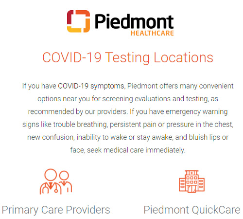 Need a COVID-19 Test for Camp or Travel? Piedmont Has You Covered