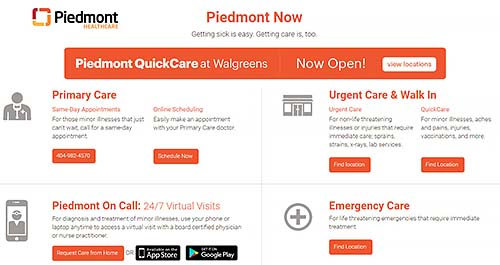 Piedmont Healthcare Marks One-Year Anniversary of QuickCare at Walgreens