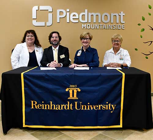 Reinhardt, Piedmont Healthcare Establish Educational Pathway partnership