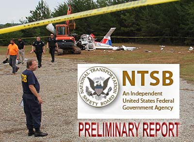 NTSB Preliminary Report of Piper PA-38-112 Plane Crash on October 8, 2015