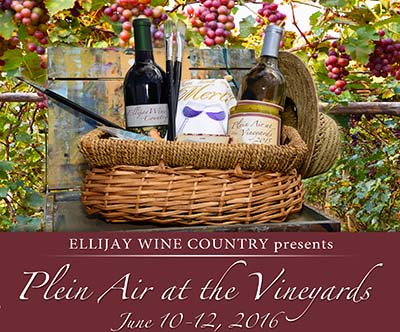 Ellijay Wine Country and Gilmer Arts Presents 'Plein Air at the Vineyards' 2016