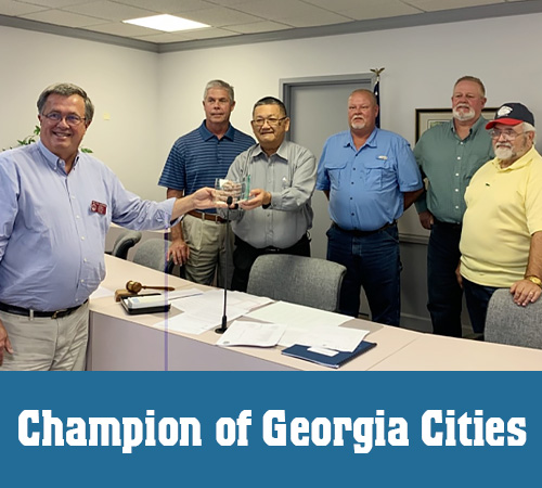 Jasperse Receives 'Champion of Georgia Cities' Award