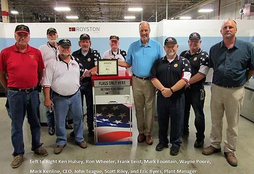 Royston Donates Retired Flag Drop Box To Pickens County Veterans Memorial Park