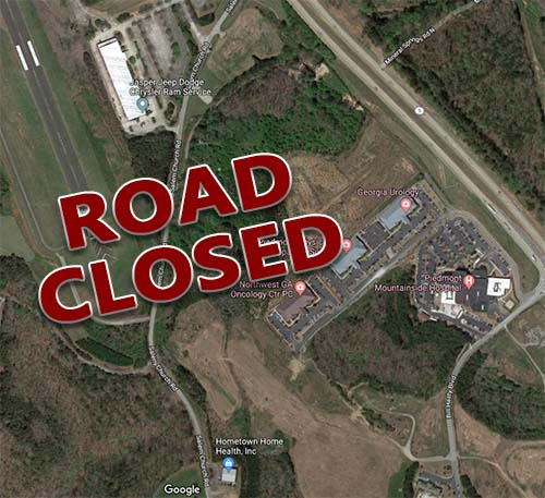 NOTICE:  Portion of Salem Church Road Closed Monday