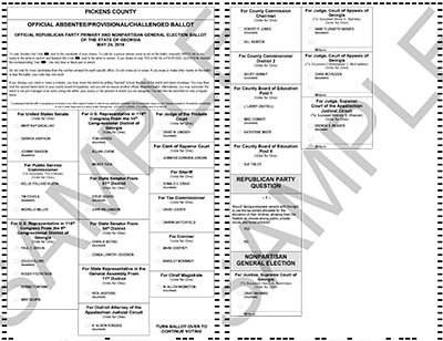 Sample Nonpartisan, Republican and Democratic Ballots for May 24th Election