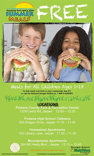 Free Summer Meals For Children Ages 1-18 Starts Today