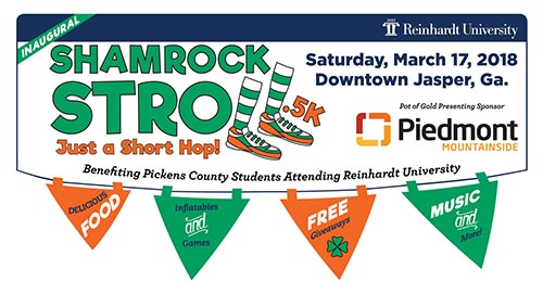 Reinhardt University to Host St. Patrick's Day Fundraiser in Jasper