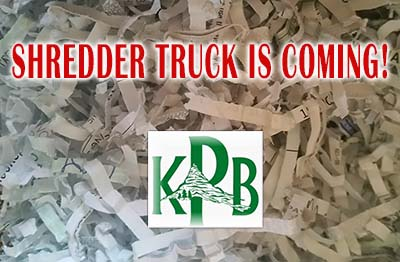 KPB Shredder Truck is Coming This Saturday