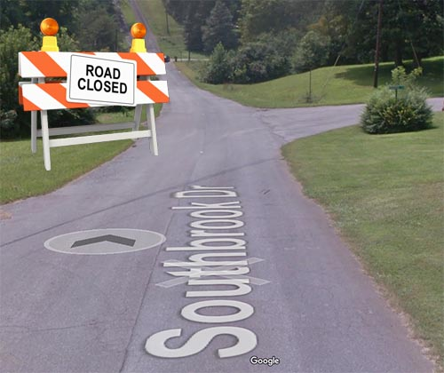 NOTICE:  Southbrook Drive Closed On Wednesday, March 14