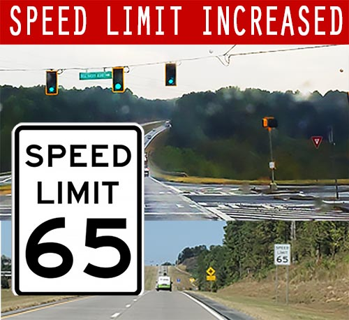 Speed Increase on a Portion of Hwy 515