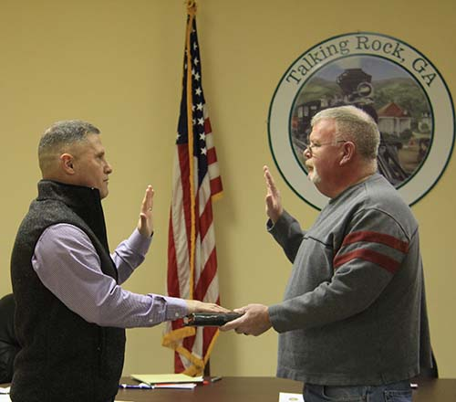 Swearing In of James W. Bryant Jr. for Talking  Rock Council