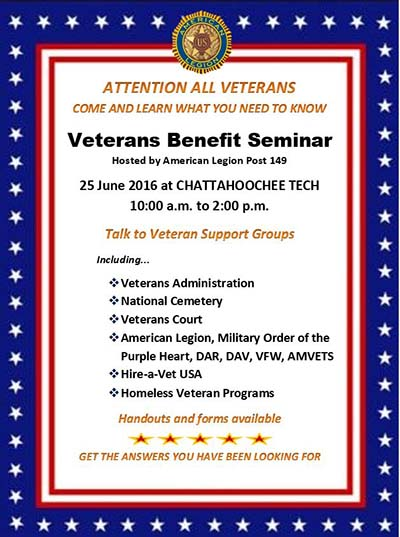American Legion to Host Veterans Benefits Seminar This Saturday