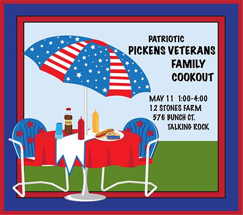 Cookout Party for Pickens Veterans