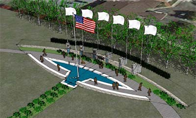 Rendering of Pickens Veterans Memorial Park