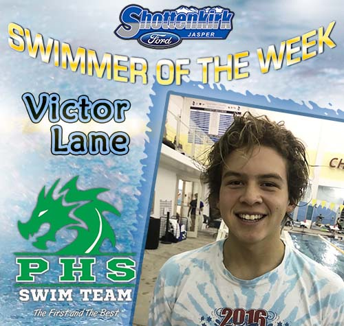 Victor Lane Named Shottenkirk Ford's PHS Swimmer of the Week